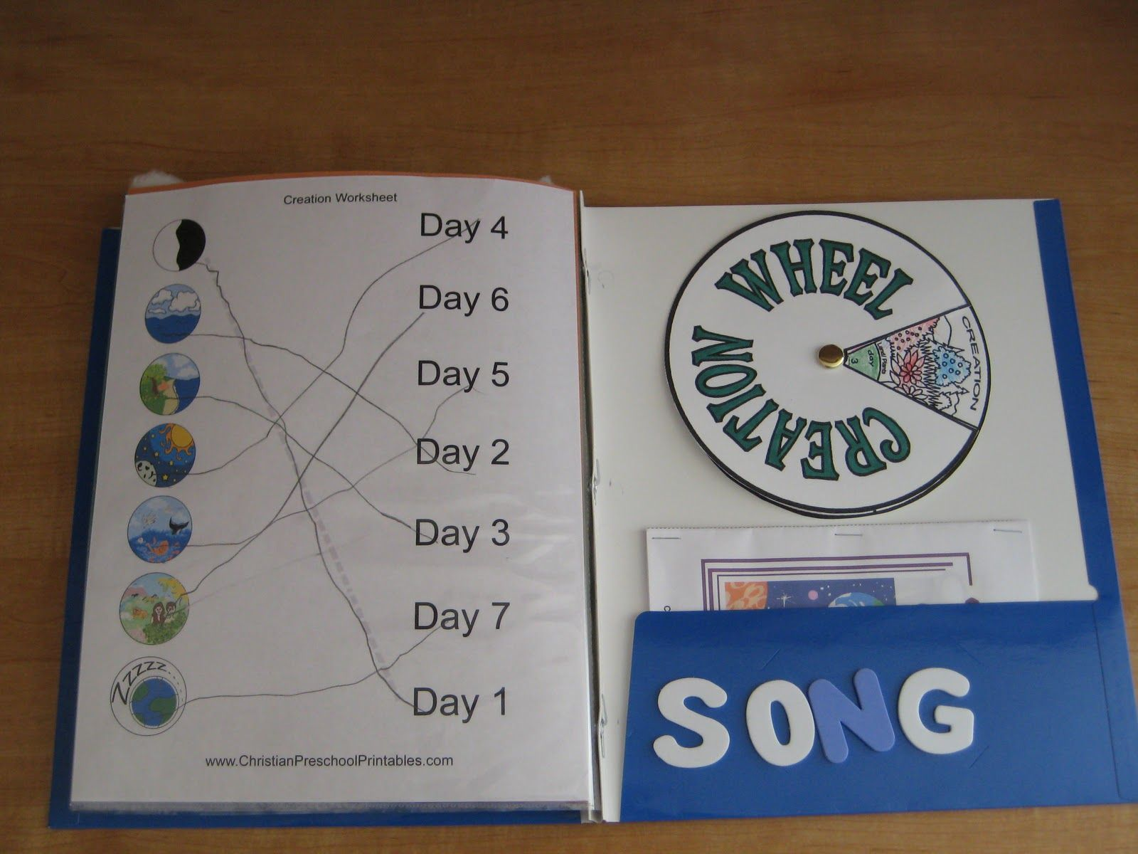 worksheet Creation Worksheets Ks2 7 days of creation crafts the worksheet we did and wheel made