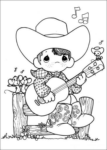Precious Moments Coloring Pages - GetColoringPages.com | 512x366