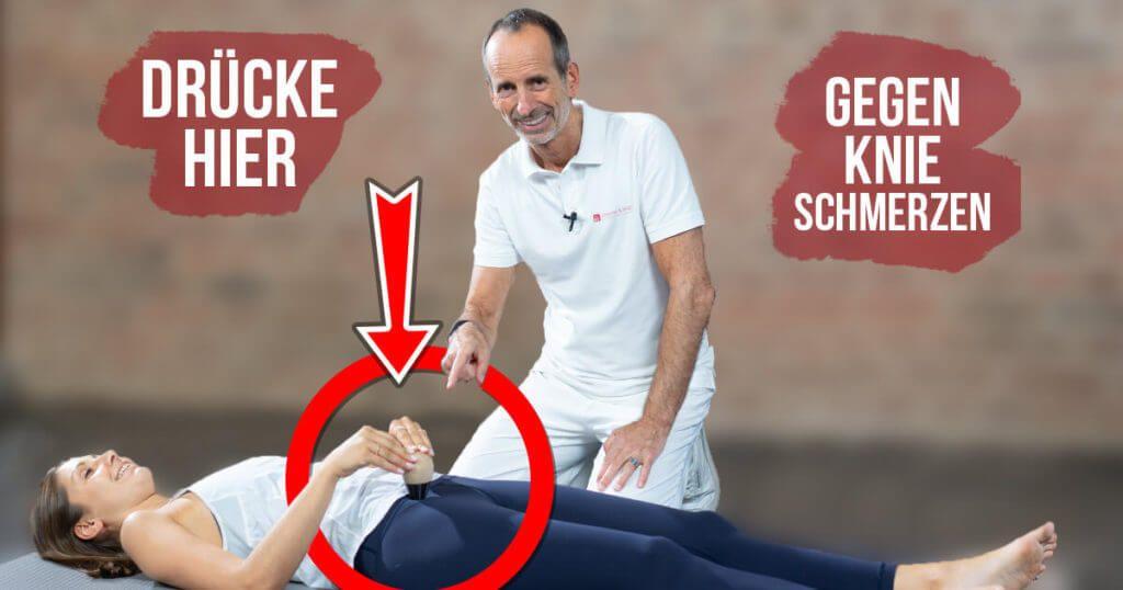 Drucke Diesen Punkt Und Stoppe Deine Knieschmerzen Knieschmerzen Schmerz Knieschmerzen Ubungen