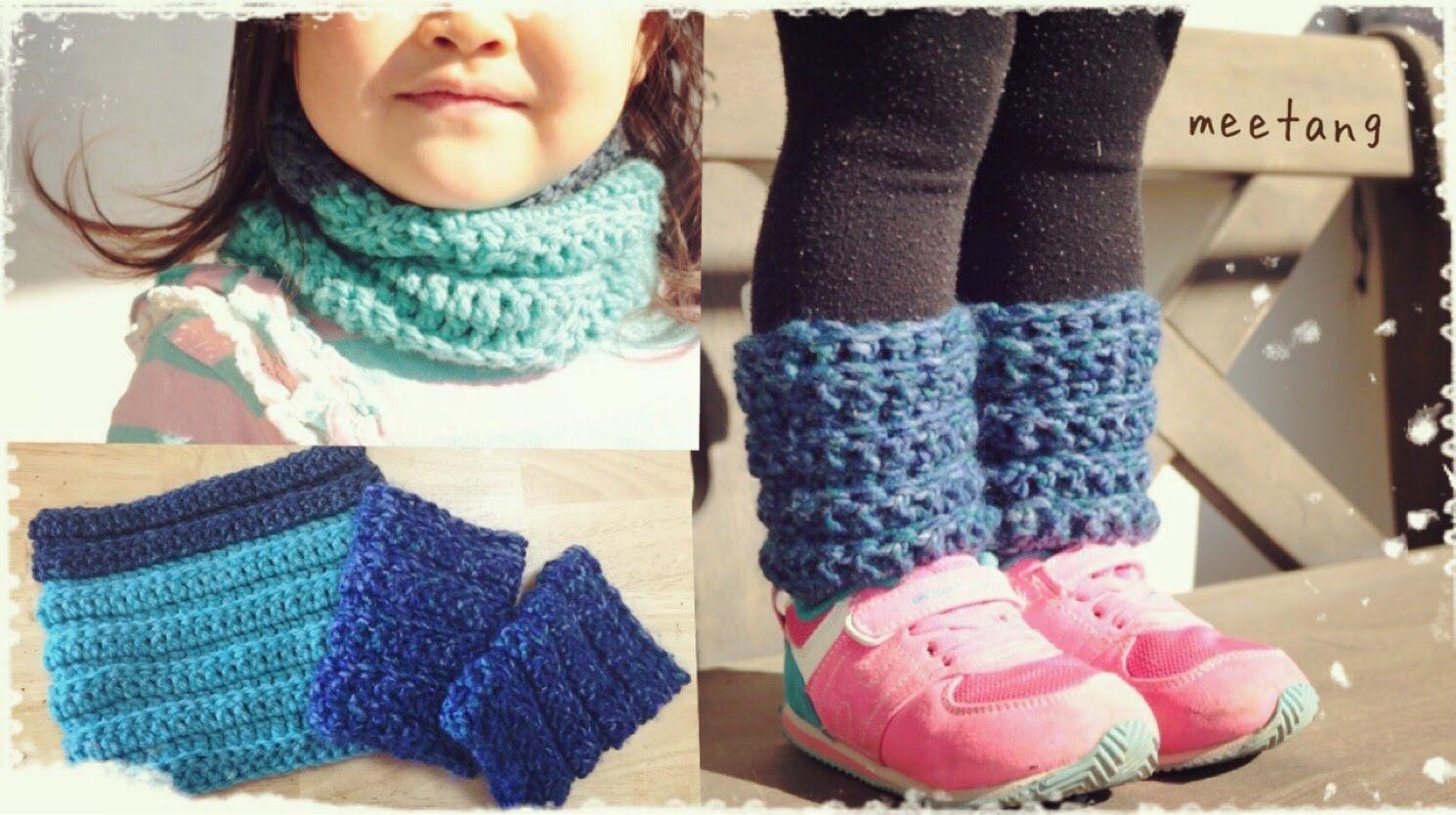 ネックウォーマー・レッグウォーマーの編み方 鎖編みなし長編みの輪にする編み方