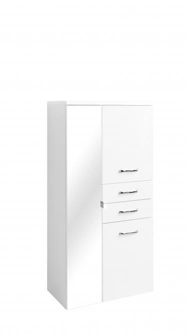 bad spiegelschrank bambus badmöbel weiß hochglanz 120 cm