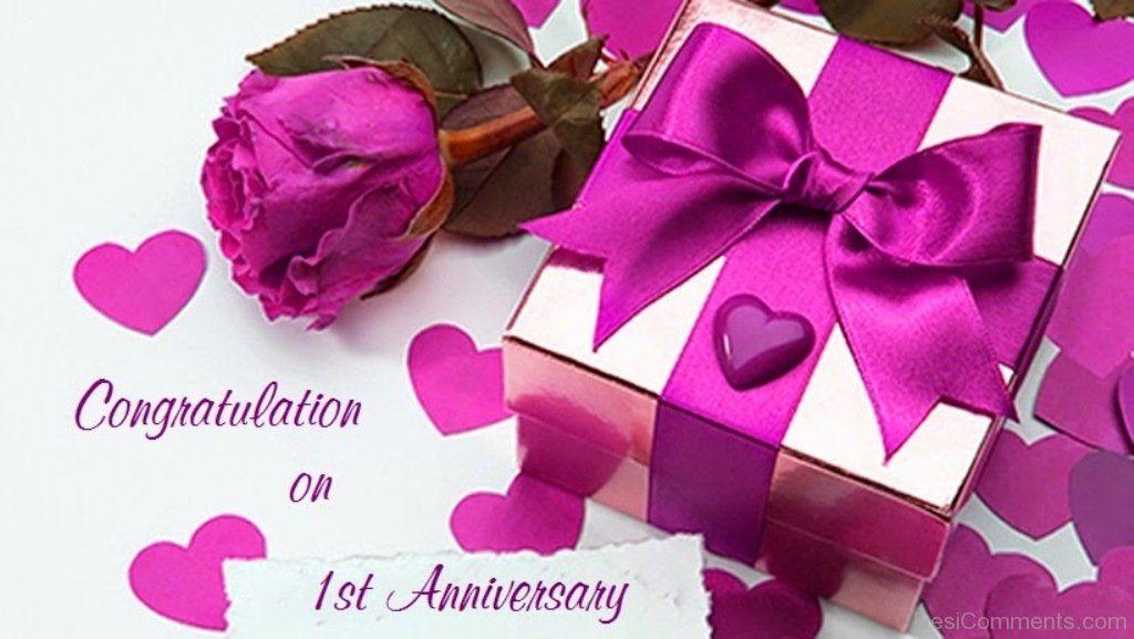 Congratulation on st anniversary dc anniversary love