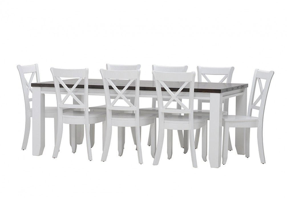 Le Franschhoek 9 Piece Dining Suite With Cloud Chairs | Super Amart