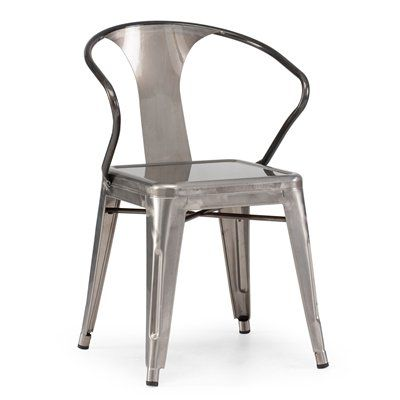 Zuo Modern 10814 Helix Metal Dining Chair Set Of 2