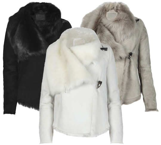 All Saints Caradon Sheepskin Jacket | kabáty | Pinterest | Grey ...