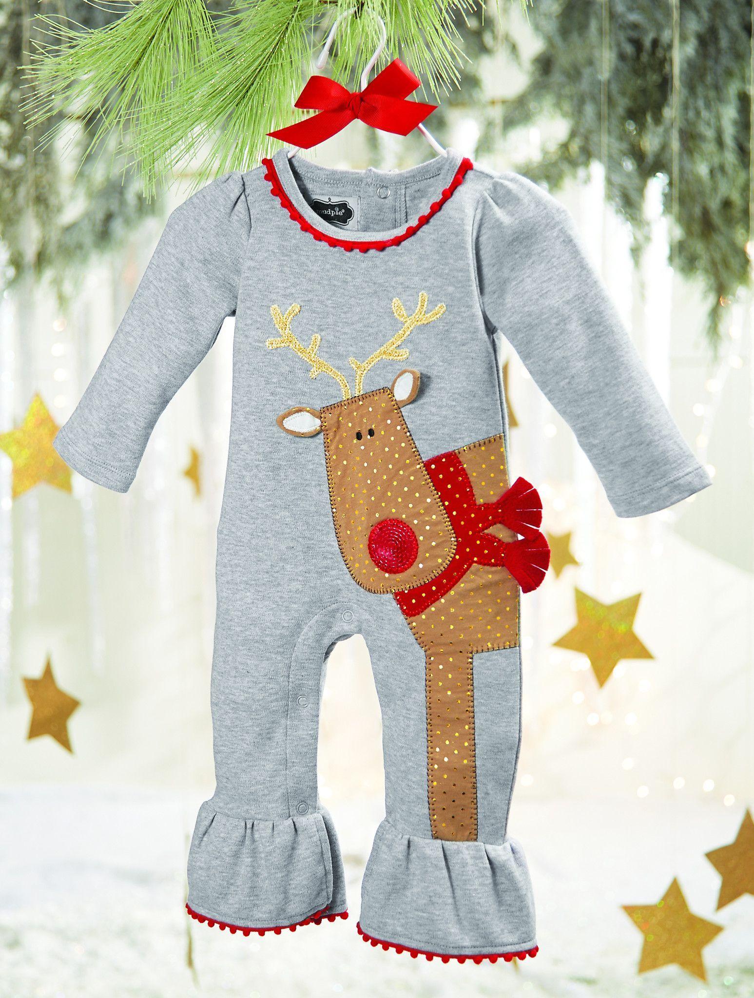 1557f48c6db1 MUD PIE REINDEER ONE-PIECE Christmas Baby
