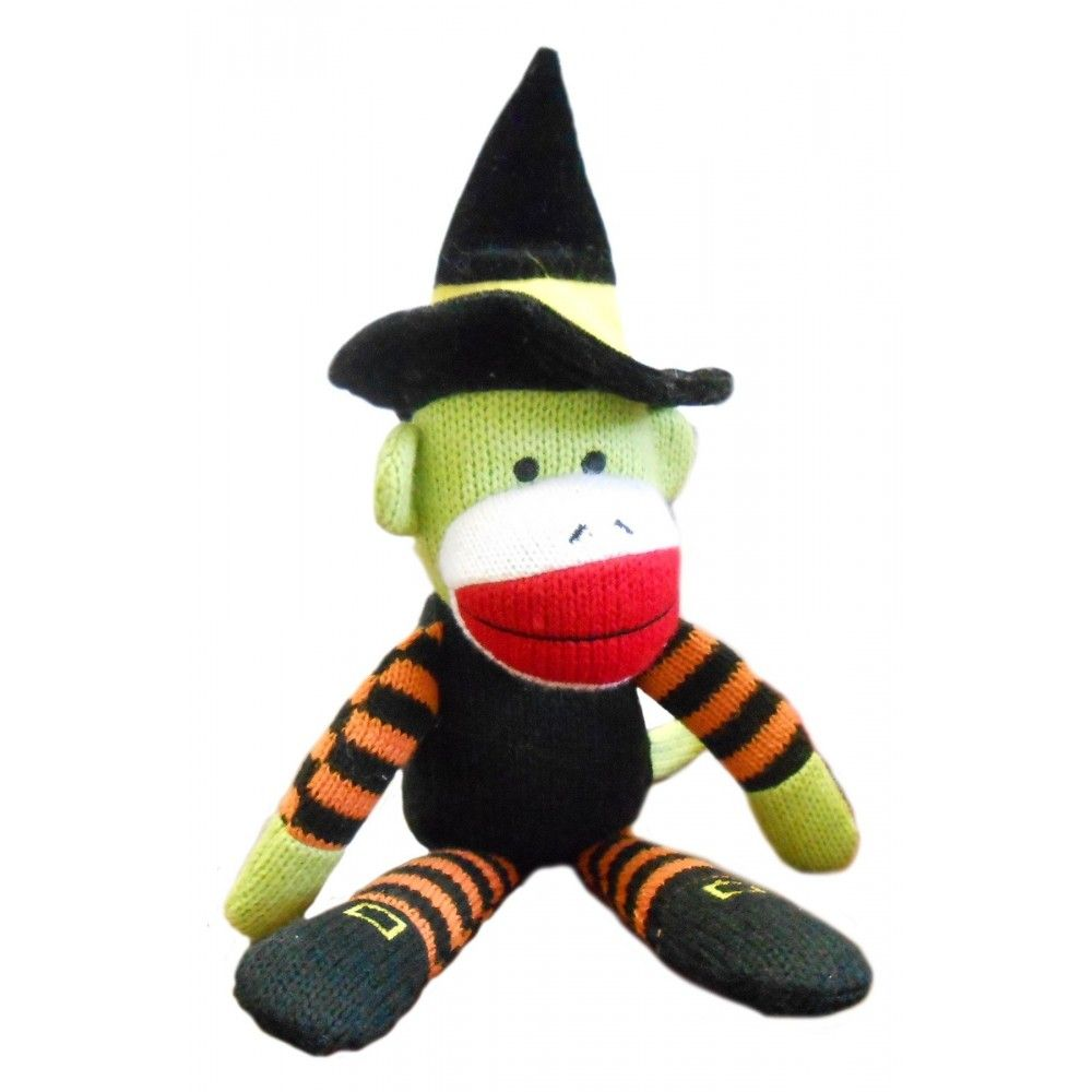 lulubelles halloween sock monkey - witch | rasputin van boyles