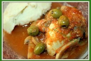 Poulet tomates, champignons et olives (thermomix)