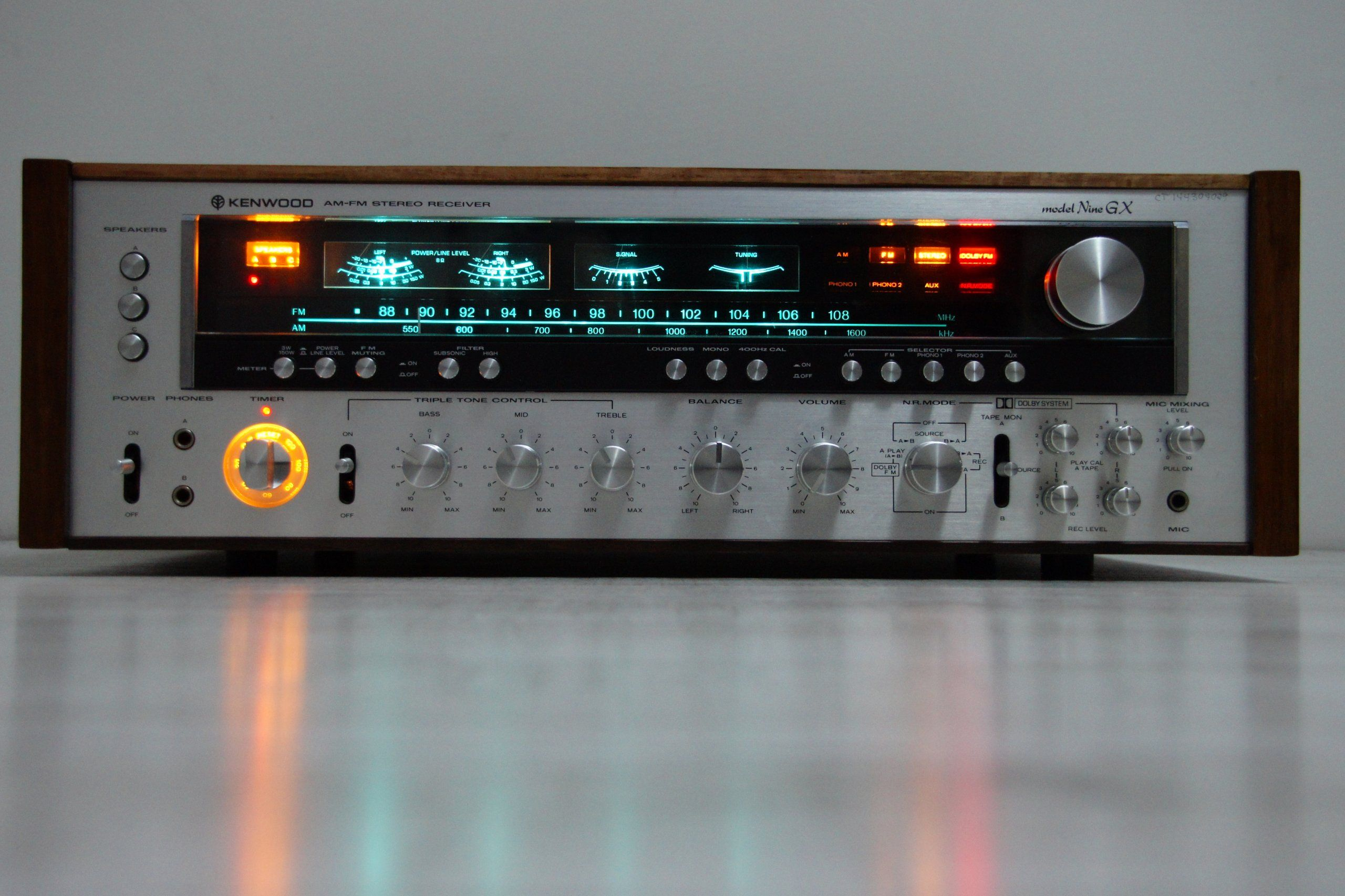 C Ae A Bb E B on vintage pioneer stereo receiver