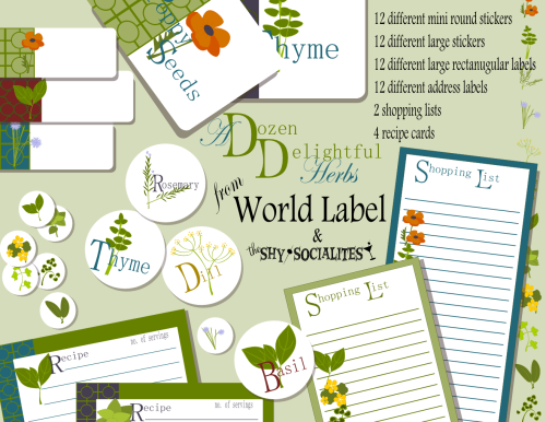 Free Printable Labels for you Herb jars containers and more from WorldLabel.com