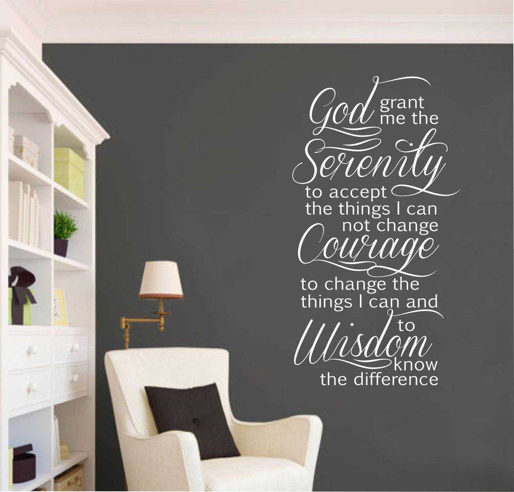 Inspirational Home Mural Wall Decor Decal Religious Wait Pray Trust Quote Prayer Quote Vinyl Wall Art Sticker