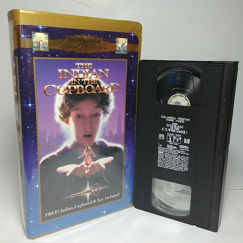 The Indian In The Cupboard 1995 Vhs Tape Very Clean Original Clamshell Hard Case Indian In The Cupboard Vhs Vhs Tapes