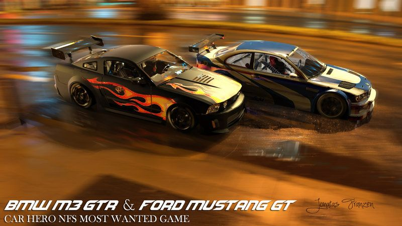 Nfs Most Wanted Bmw M3 Gtr And Ford Mustang Gt By No0bplayer