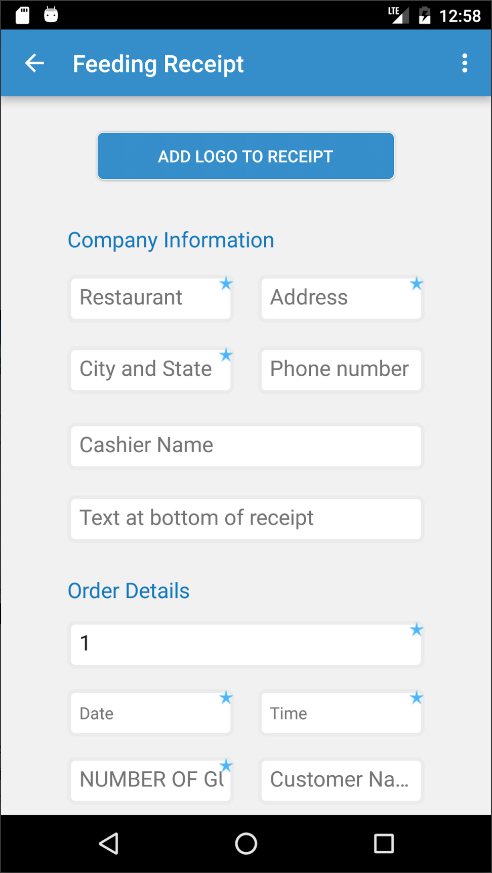 receiptish is an app for making receipts on your mobile phone for