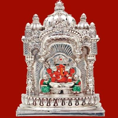 Siddhivinayak Temple Under Ganesh Idol Statue Showpiece By Ghasitaram Gifts God Idols Statues On Shimply Com Ganesh Idol Online Gift Store Gifts
