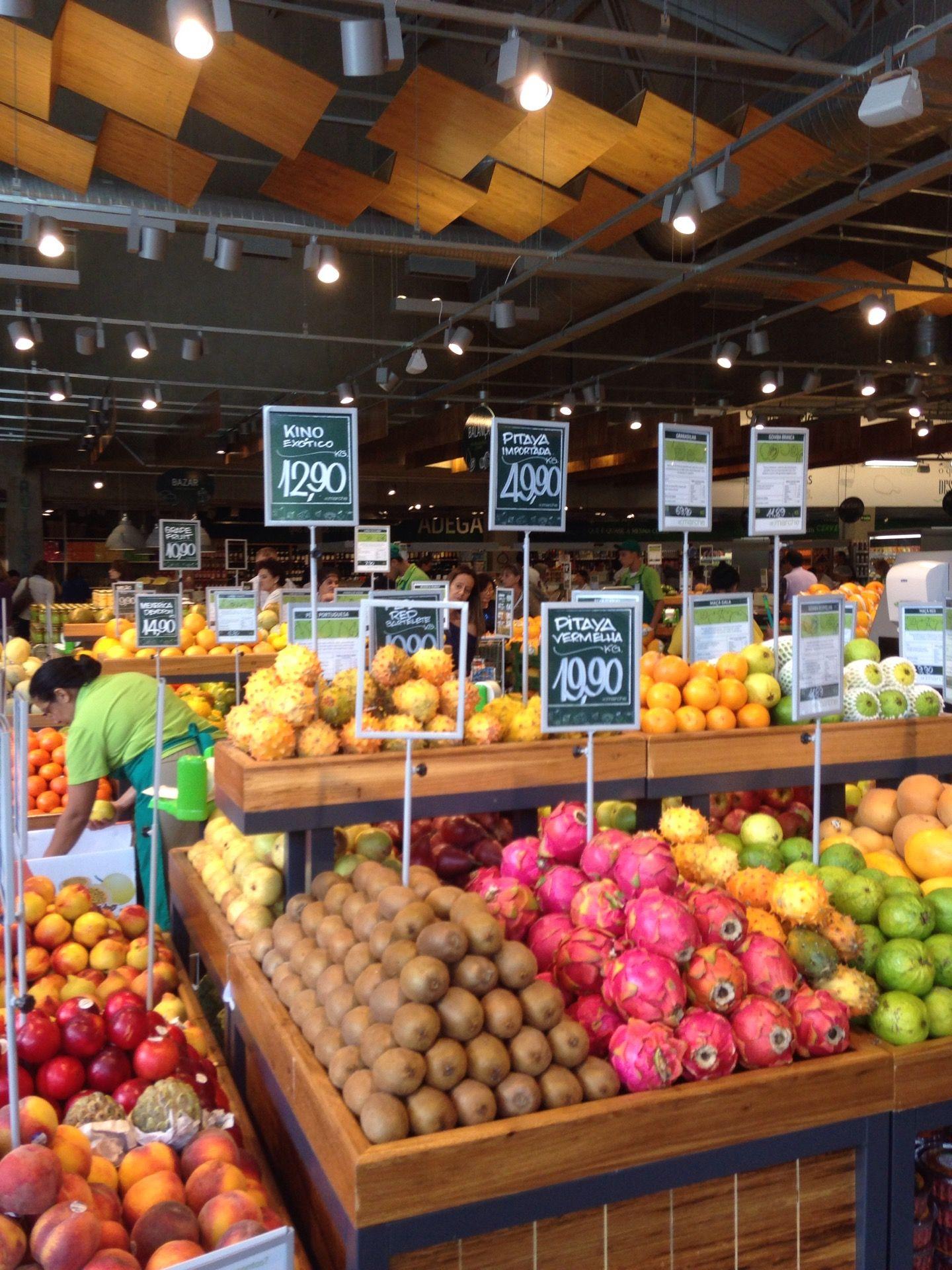 St Marché Expositores De Frutas Loja De Fruta Design De Supermercado