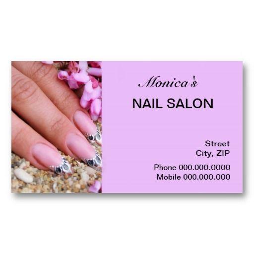 Nail Salon Business Card Nail Salon Business Cards Salon Business Cards Salon Business