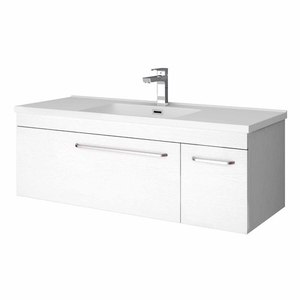 Wall Hung Vanity W 1200mm H 425mm D 460mm White Wood In 2020 Wall Hung Vanity Vanity White Wood