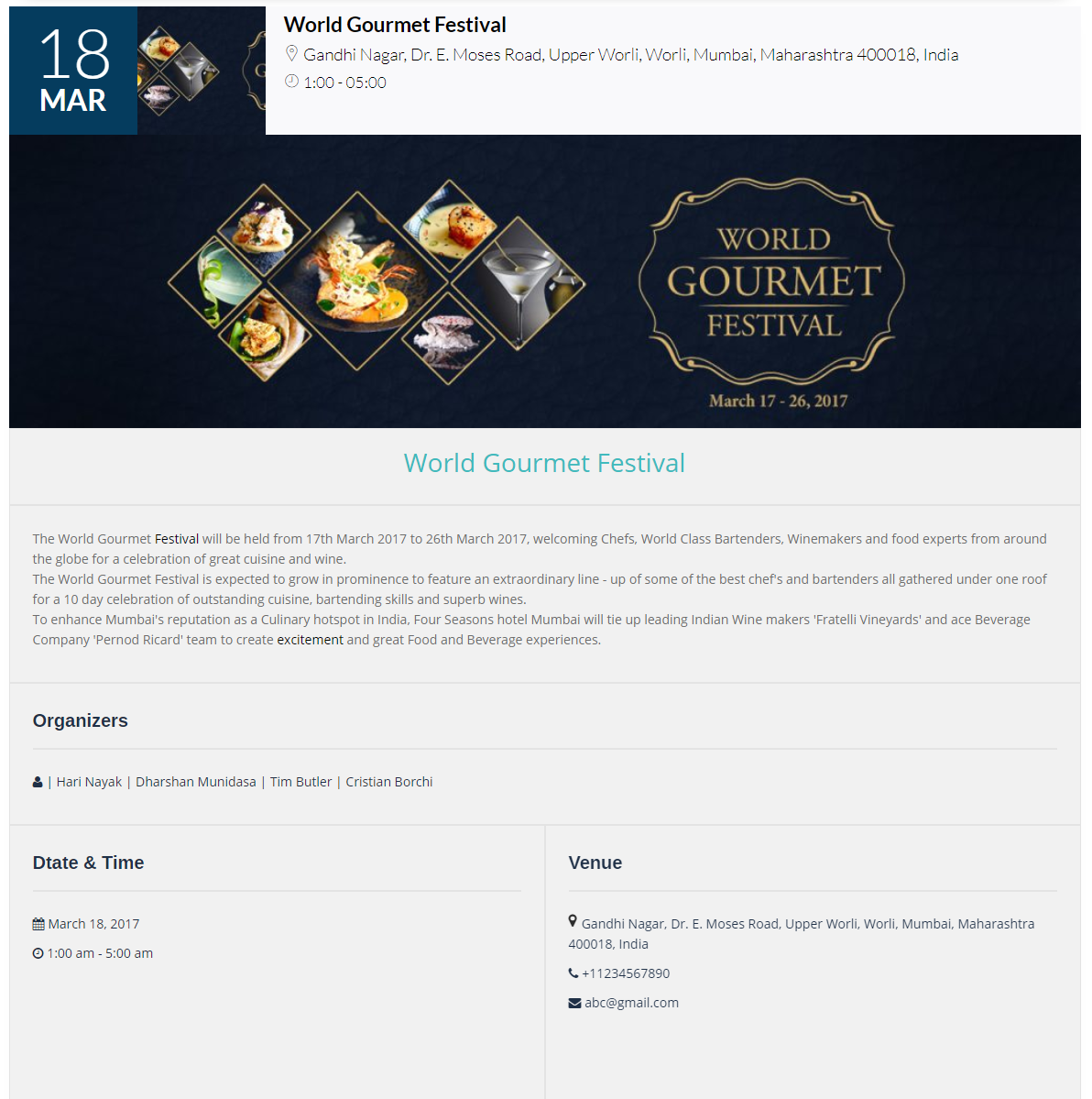 Event Manager WordPress Plugin | Product Design Inspiration