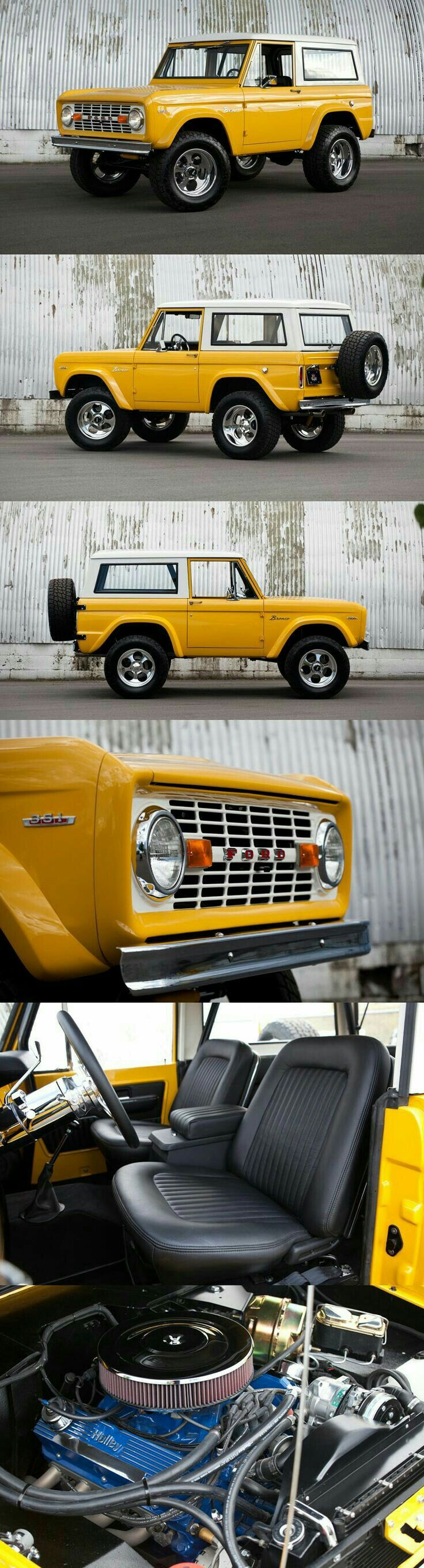 Mellow Yellow Bronco Ford Dreams Pinterest Cars 1980 Mirror