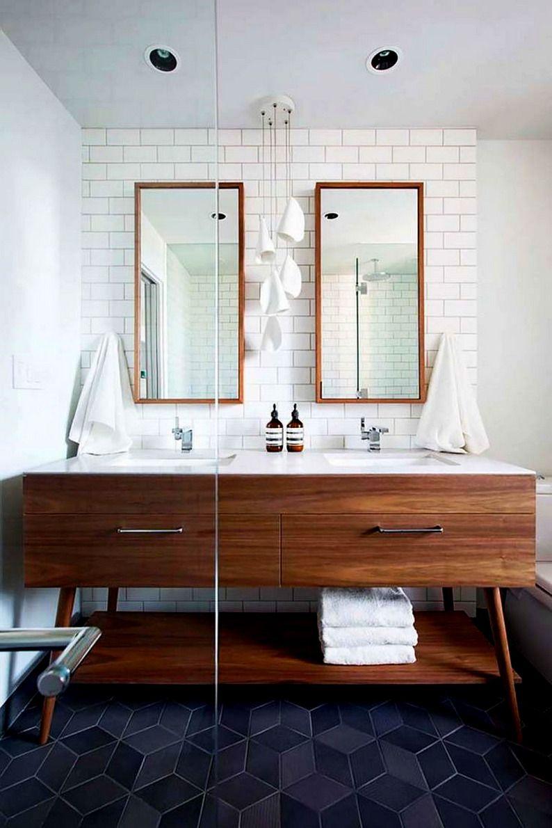 Amazing mid century modern bathroom style with regard to vanity