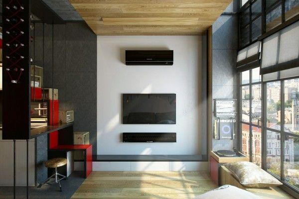 一個人專屬的loft風迷你住宅 小空間也能住得很幸福 A Day Magazine Small Loft Apartments Small House Design Tiny Apartment