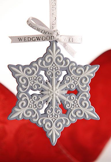 Wedgwood Blue and White Snowflake Ornament Simple and elegant, in - blue and silver christmas decorationschristmas tree decorations