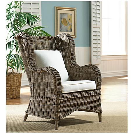 panama jack exuma kubu gray wicker occasional chair style 7v133