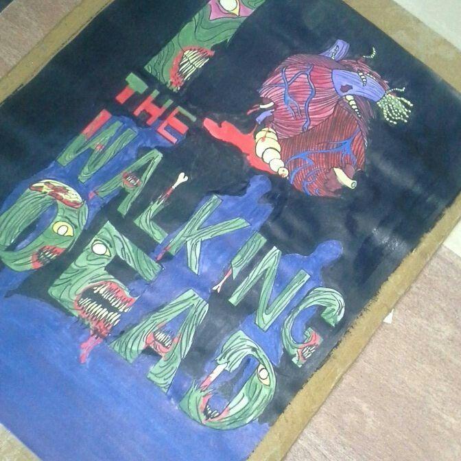 The walking dead_dibujo_poster