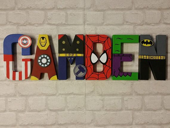 """The Avengers Poster 30/"""" x 8.5/"""" Personalized Custom Name Painting Printing"""