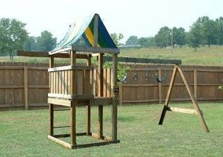 Build A Swing Set And Play House Build A Playset Fort Playhouse Swingset Wood Plans Special Design Swing Set Plans Swing Set Gym Plans