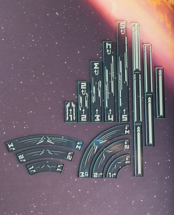 Acrylic Maneuver and Range Ruler Templates X Wing Compatible