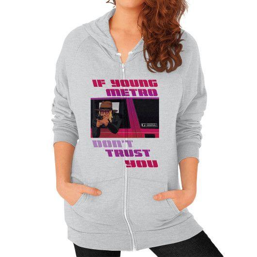 IF UPUNG METRO Zip Hoodie (on woman)
