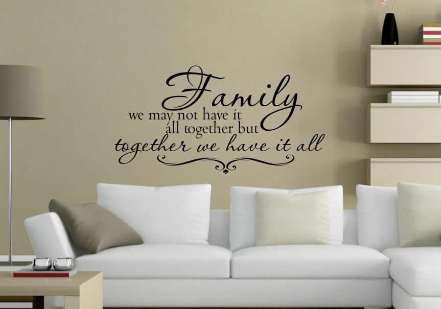 Family Wall Decal, Family Quote Wall Decal, Bible Verse Decal, Wall Decals