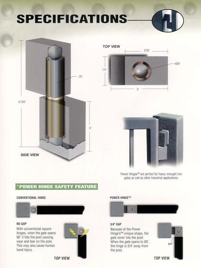 Exceptional Hinge Specifications. Driveway GateHeavy Duty Gate HingesGarden ...