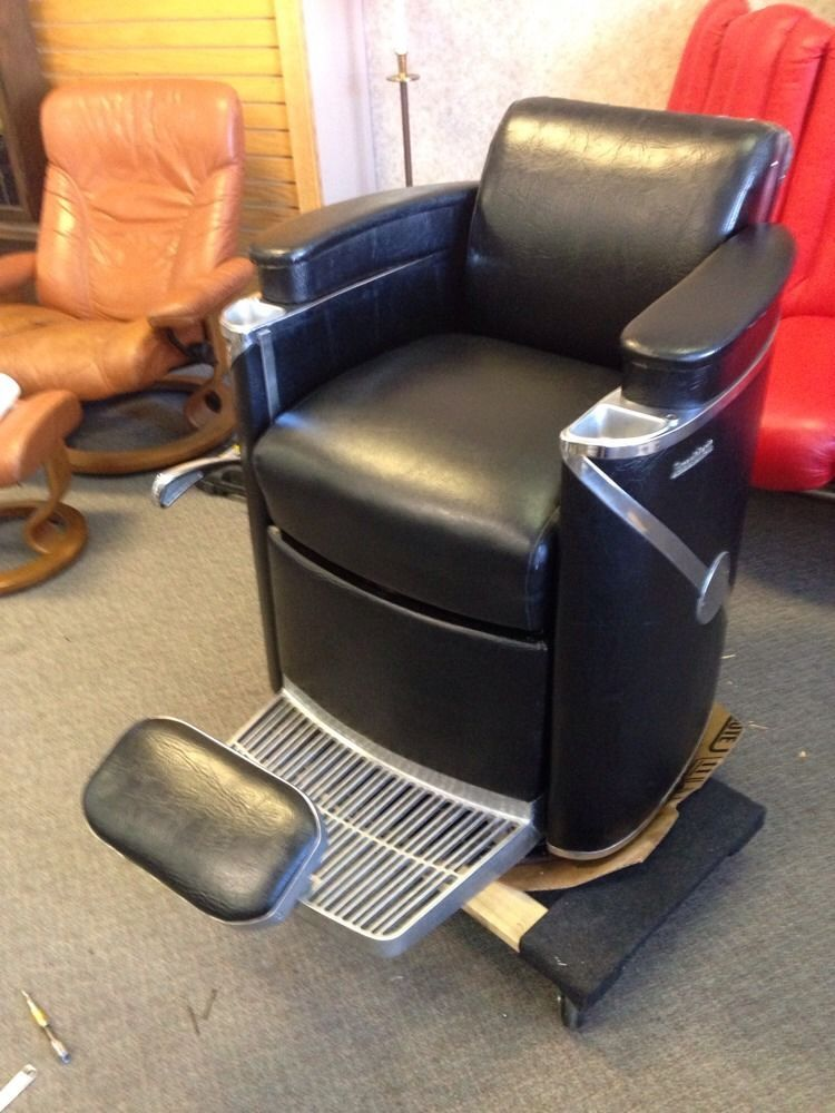 1958 Vintage Koken President Barber Chair With Headrest We