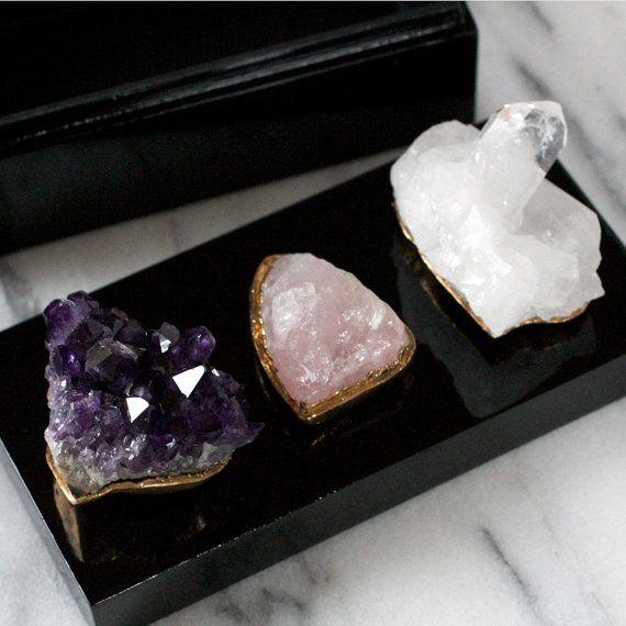 Raw Stone Amethyst Box Rose Quartz Box Raw Crystal Box Mineral Box Coffee Table Box Quartz Decor Decorative Cryst Crystal Box Box Roses Raw Stone