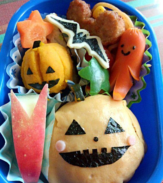 12回目(10月)の息子のお弁当♪ 10月最終日はハロウィンのジャックオランタン風 オムライス弁当で♪ - 3件のもぐもぐ - 幼稚園お弁当(年少) by TSUKI