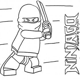 Ninjago coloring pages - could use as a template on clear ...