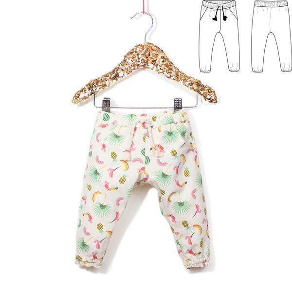 cdec82a7e118b Patron de couture Pantalon fluide CANCUN PDF 6-24M – ikatee Jogging Enfant