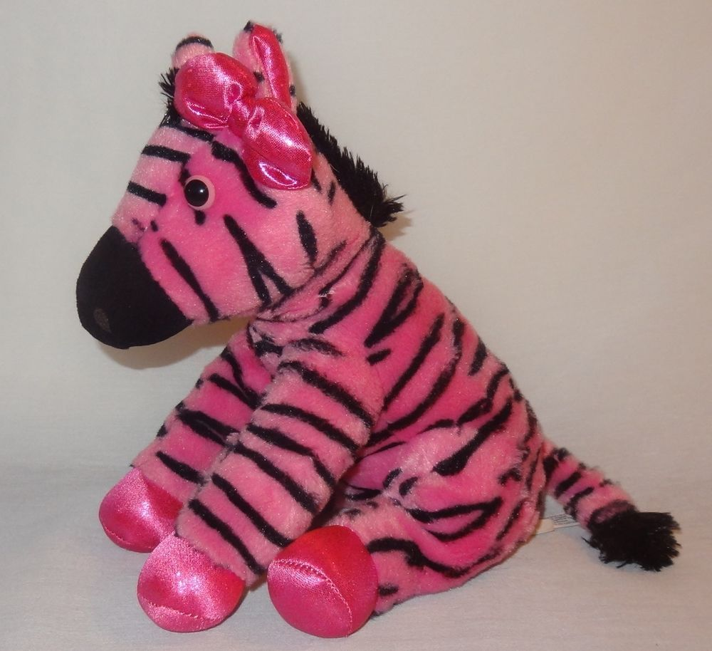 Pink Zebra Plush Stuffed Animal 11 Girlz Nation Ebay Etsy Amazon
