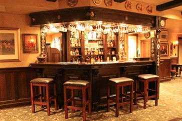 English Pub Style Basement Traditional Basement Pub Decor Basement Bar Plans Pub Interior