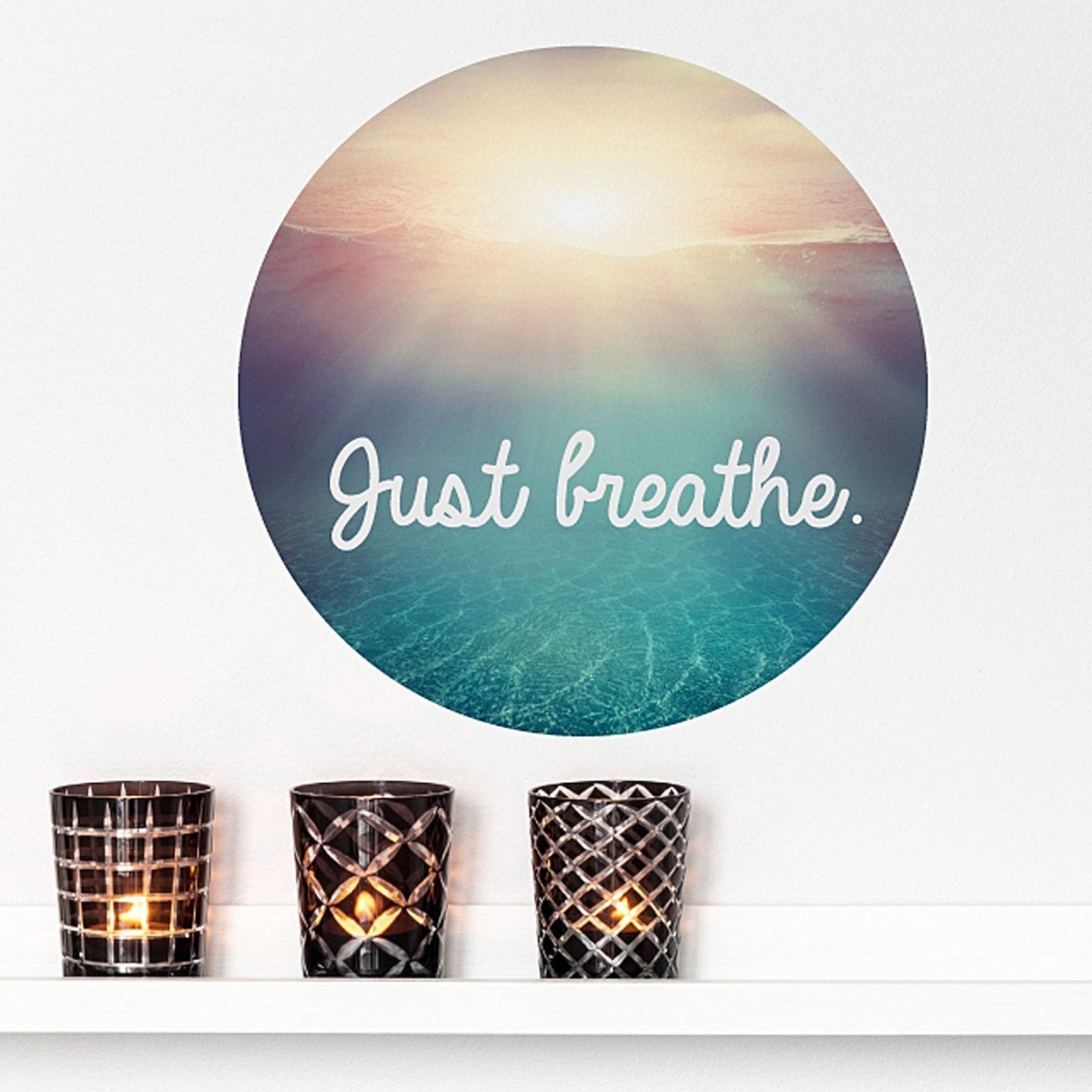 Little Studio Just Breathe Ocean Wall Decal By Little Sticker Boy