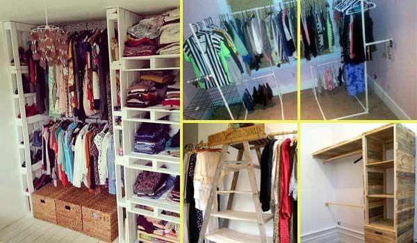 diy bedroom clothing storage. Low-Cost DIY Closet For The Clothes Storage Diy Bedroom Clothing T