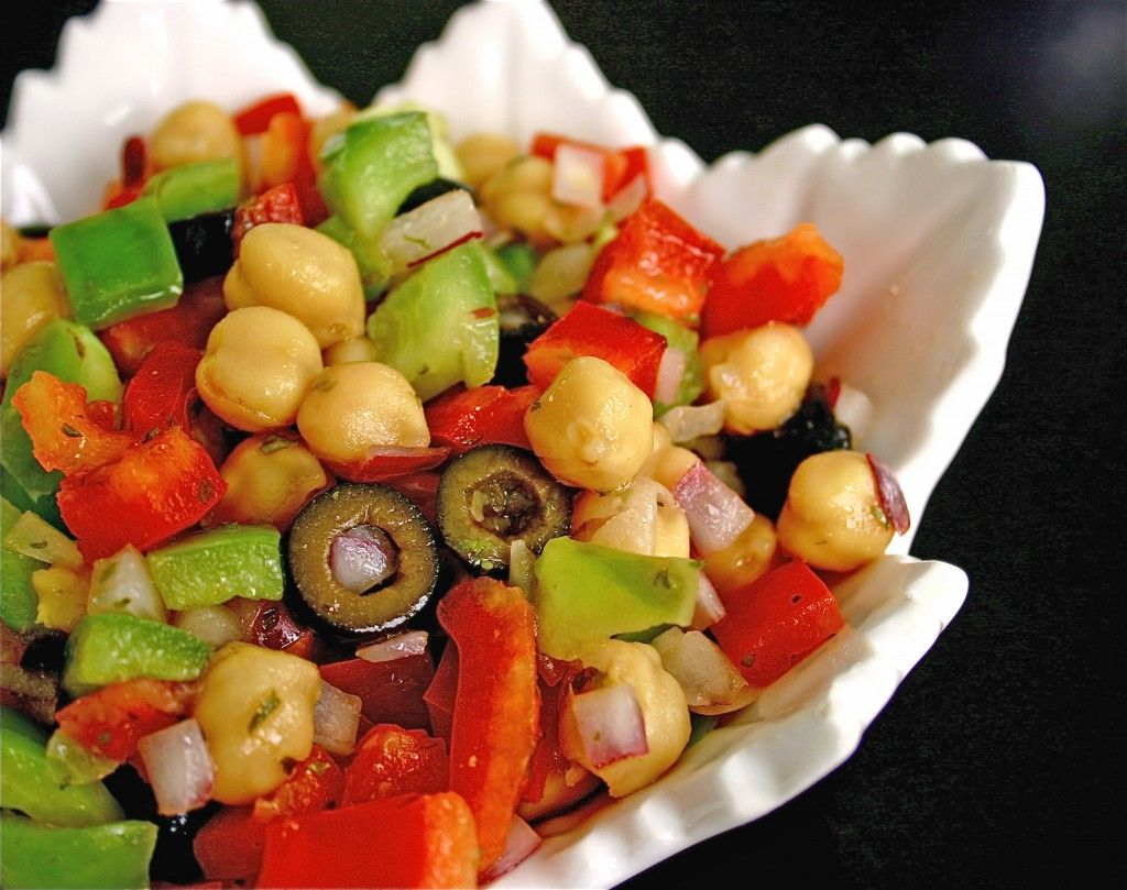 Chickpea salad. Must make asap.
