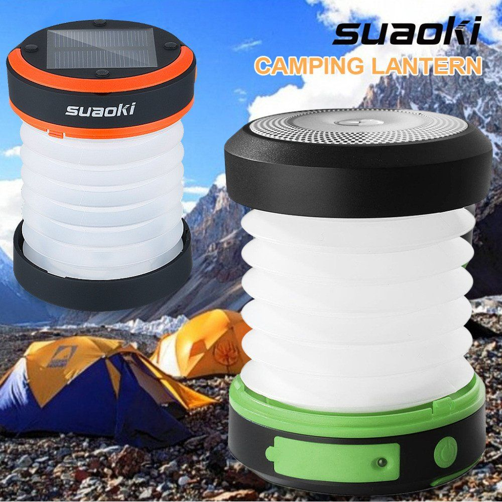 New for 2017. Solar and USB Powered LED Camping Lantern