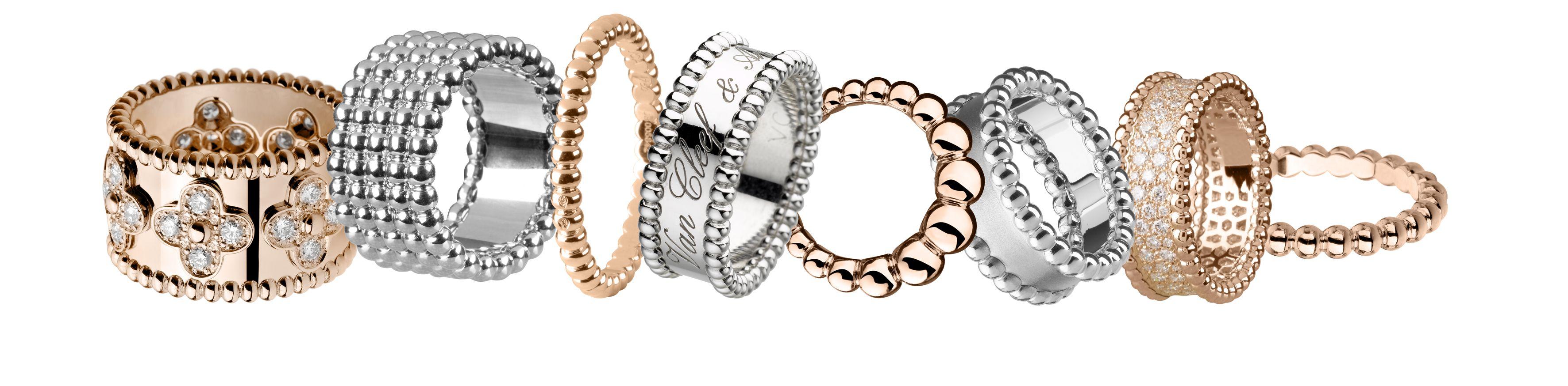 Un, deux, trois rangs, blanc, rose , jaune, diamants ou pas, le perlé by Van Cleef.