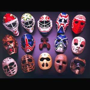 Legends Of Hockey Gallery Evolution Of The Goalie Mask Hockey