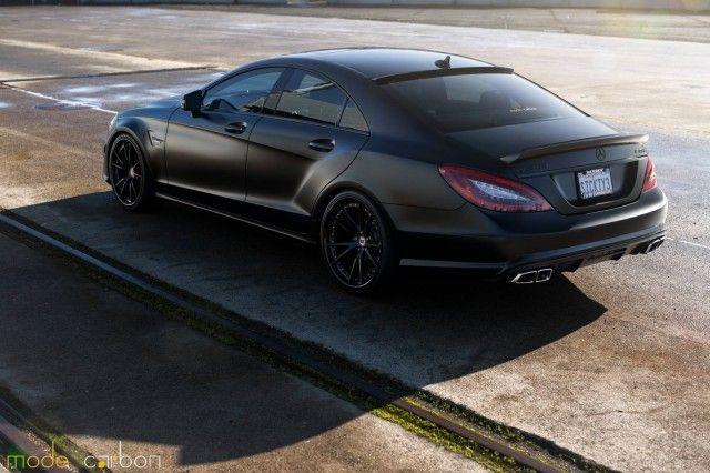 Matte Black Mercedes Benz Cls63 Amg S By Mode Carbon Black Mercedes Benz Mercedes Benz Maybach Mercedes Benz