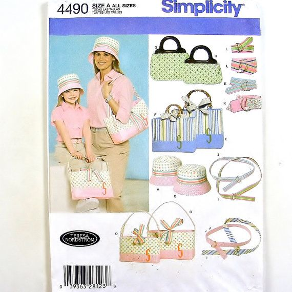 Hat Pattern Purse Tote Bag Handbag Ribbon